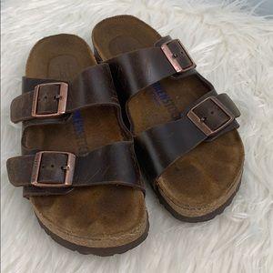 Birkenstock Brown Leather Sandals 5 (36)